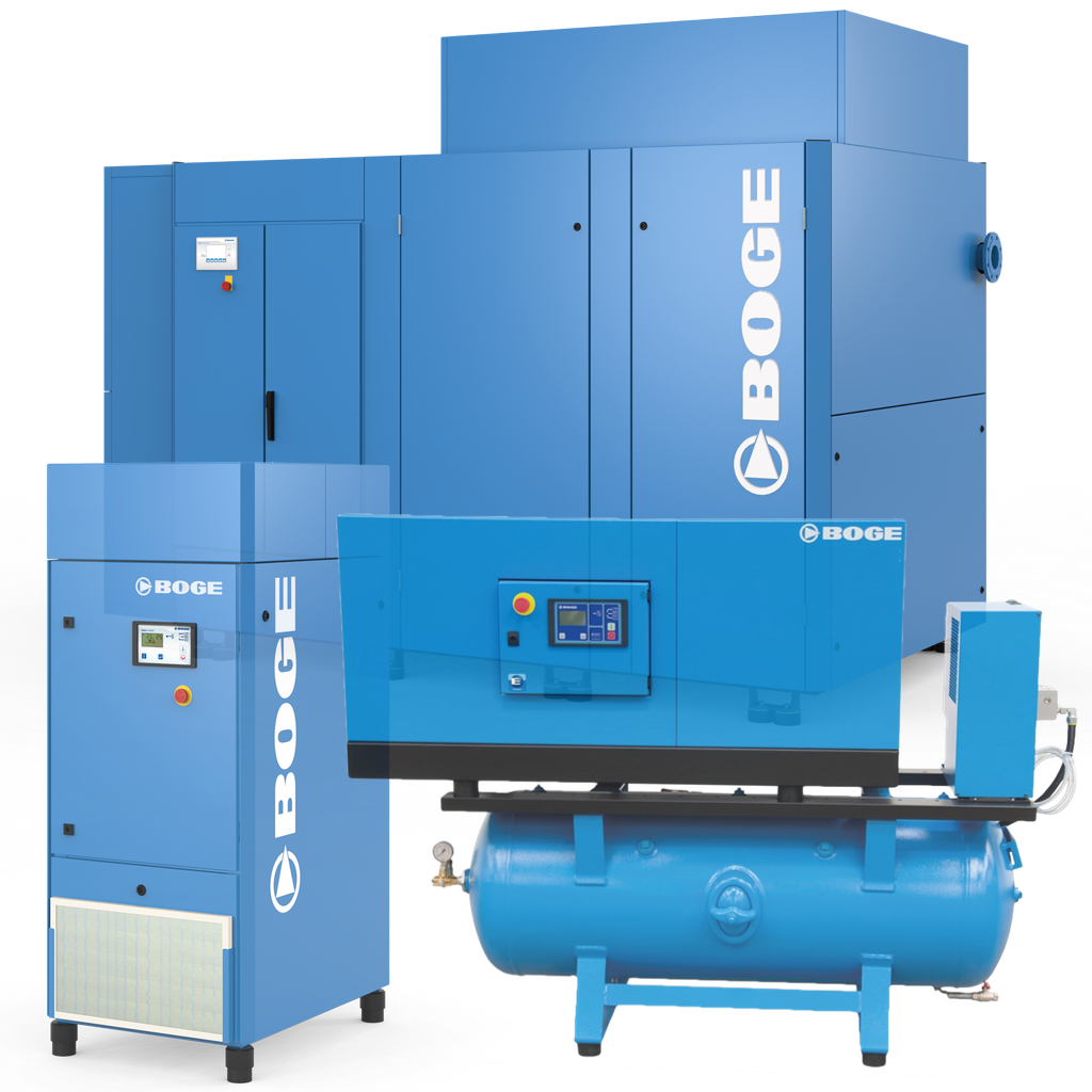 BOGE Rotary Screw Compressor Mdoels