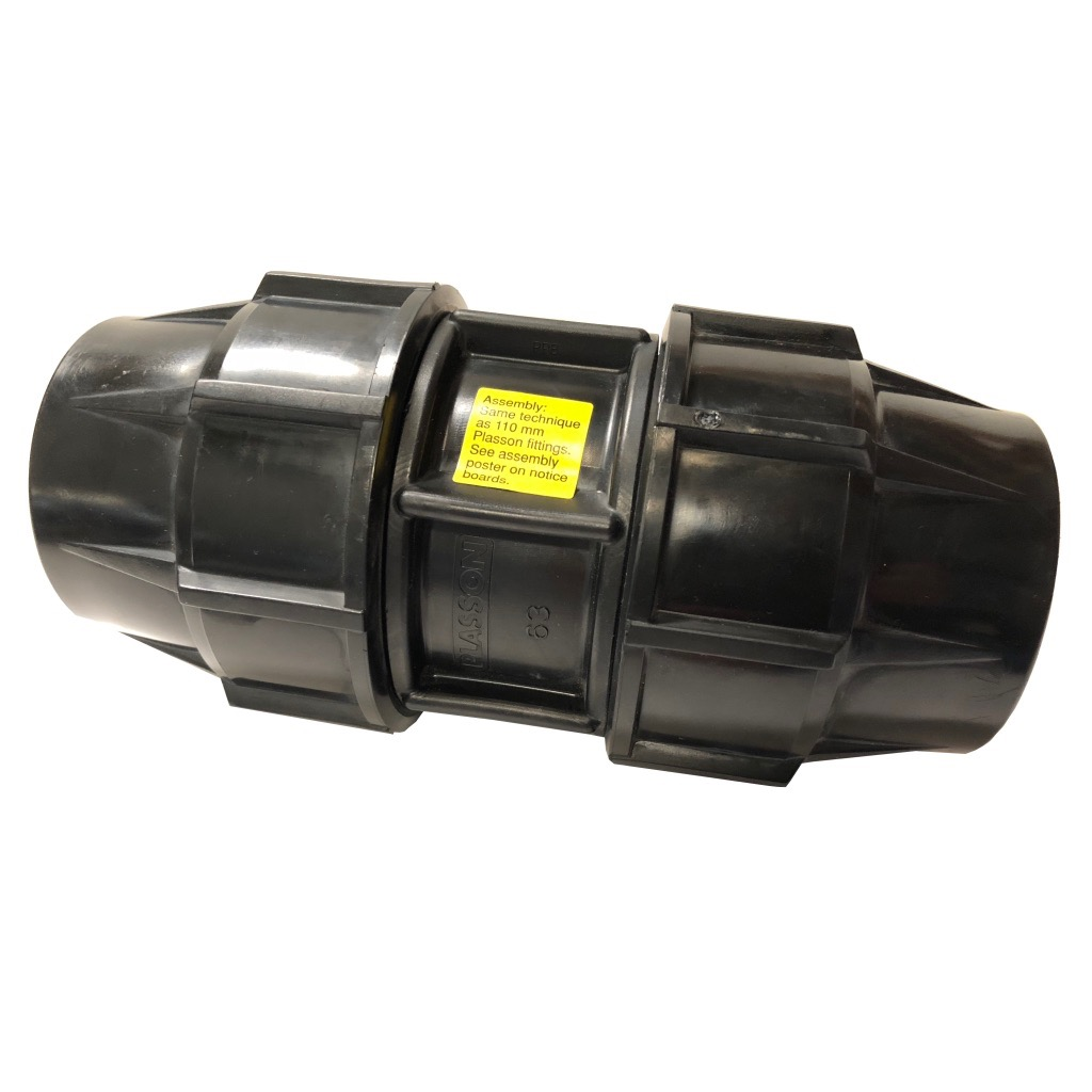 Poly Compression Fitting 63mm Joiner